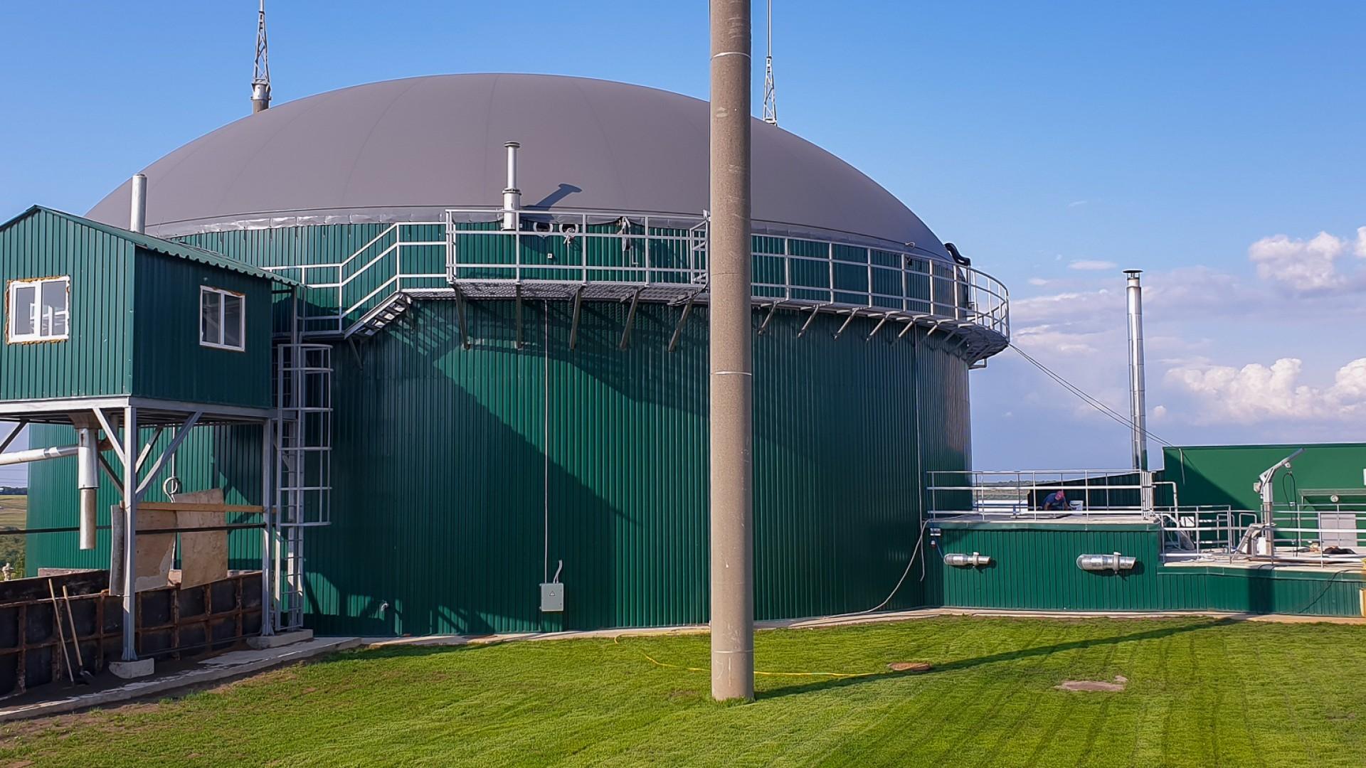 Биогазовая станция в селе Чимишены